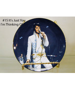 """2593 Elvis Presley Delphi Collector Plate  """"YOU I'M THINKING OF"""" # 5435A... - $25.00"""