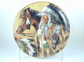 "2584 ""PRIDE OF THE SIOUX"" Franklin Mint Plate Collection American Indian - $25.00"