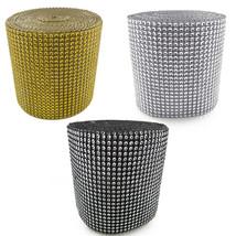 Rhinestone ribbon/diamond wrap mesh sparkling silver crystal roll bling ... - $4.99