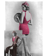 1930s Bathing Suit, Skirt, Blouse & Hat, Convertible Beach Ensemble (PDF... - $4.75