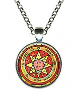 "Solomons 7th Pentacle of Mars to Daze & Disorient Rivals 1"" Silver Pendant - $14.95"