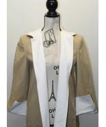 Linda Allard by ELLEN TRACY Beige Women Open Blazer Lined Size 4 Buttonless - $19.57