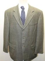 Classic Oscar de la Renta Men's Blazer Bluish Gray Plaid Canada 42R 100%... - $27.96