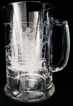 Used Clear Beer Mug with Santa Maria Etching   - $4.07