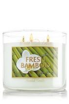 Bath & Body Works White Barn & Co 14.5oz 3-wick Candle Fresh Bamboo - $99.99