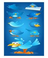 Blue Birds-Digital-ClipArt-Art Clip-tweet. - $3.00