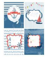Set of 4 Nautical-Digital-ClipArt-Art Clip. - $4.00