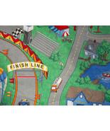 Cotton Fabric Childs Racetrack  - $10.00