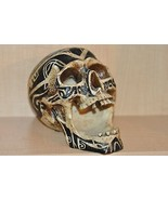 HEAD HUNTER ANCESTRAL HUMAN TROPHY RESIN SKULL TATOO - $154.26