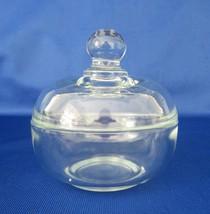 Plum Glass (Westmoreland Mould), Puff Box, Powder Box, Crystal,  - $18.00