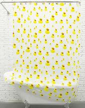 YELLOW Cute DUCKLING Milky White PEVA 180 x 180 cm Bathroom Use SHOWER C... - $19.99