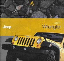 2011 Jeep WRANGLER brochure catalog US 11 Unlimited Sahara Rubicon - $12.00