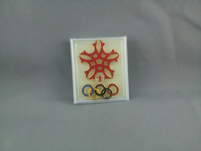Primary image for Rare - 1988 Winter Olympic Games - Large Official Logo Pin - In Original Case