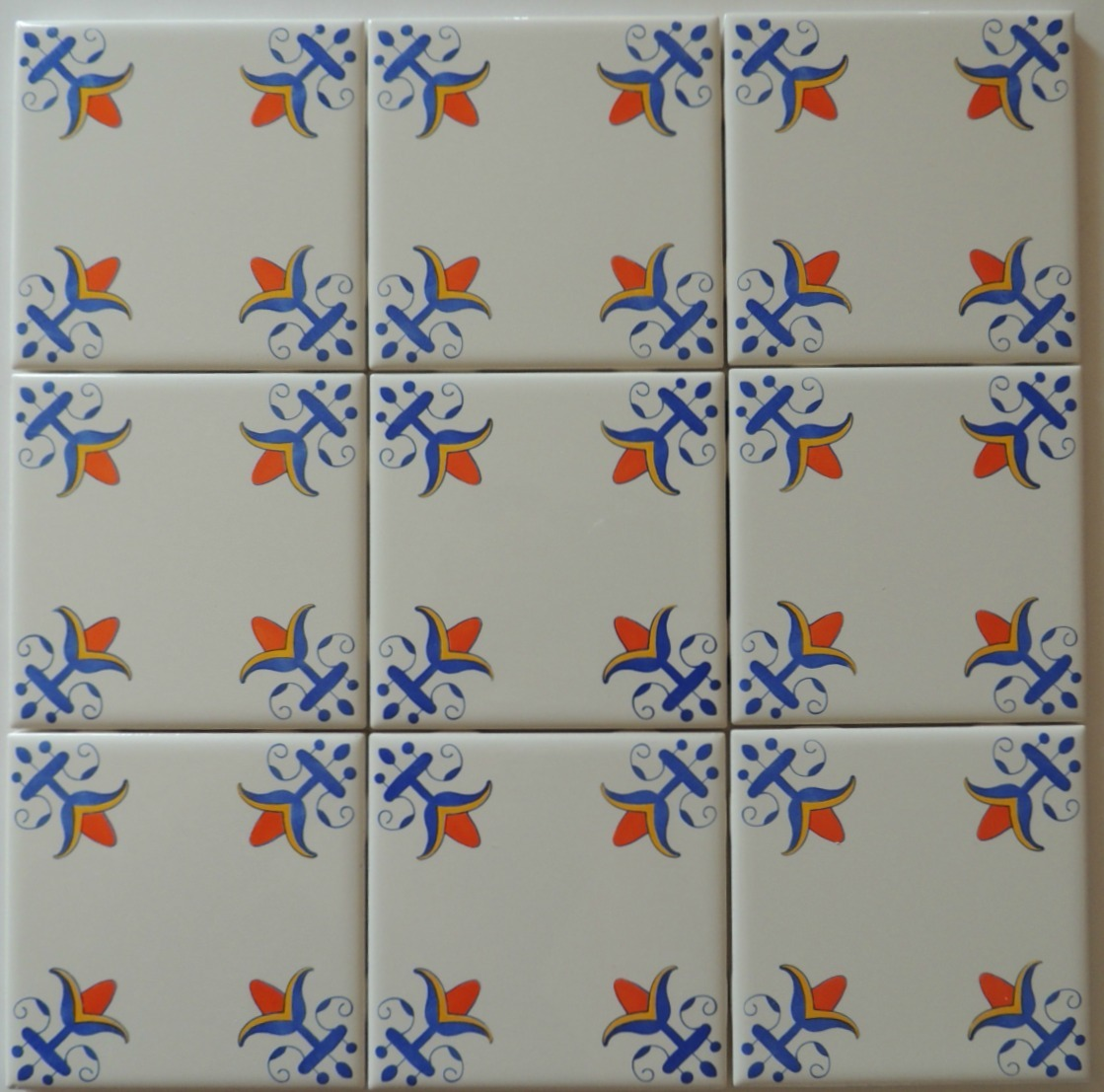 Blue And White Delft Style Wall Tiles Lilly Flower In Blue