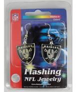 Oakland Raiders Flashing LED Earrings - $12.00