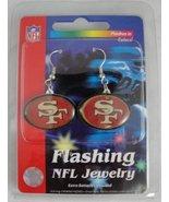 San Francisco 49ers Flashing LED Earrings   - $12.00