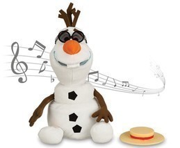 Disney - Olaf Singing Plush - Frozen - Medium - 10 1/2'' - New in Box - $49.98 CAD