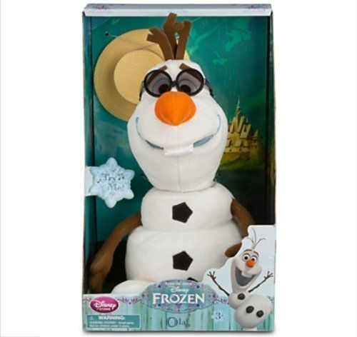 Disney - Olaf Singing Plush - Frozen - Medium - 10 1/2'' - New in Box
