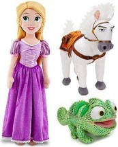 Disney Store Tangled Princess Rapunzel Plush Doll Set; Maximus the Horse... - $62.72