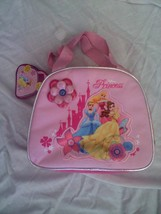 Disney Store Multi-Princess Cinderella Sleeping Beauty Belle Lunch Tote - $9.79
