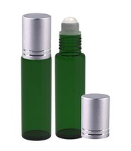 Perfume Studio Emerald Green Glass 10ml Roller Bottles with Silver Cap f... - $5.24