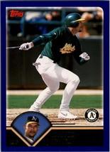 2003 Topps #154 David Justice NM Near Mint Athletics - $0.75