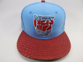 New Jersey Nets New Era Size 7 Fitted 59Fifty Official NBA Cap Hat Blue Red