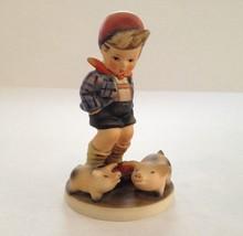 Vintage 70's Goebel Farm Boy Pig Figurine TMK5 1972-1979 #66 - $28.70