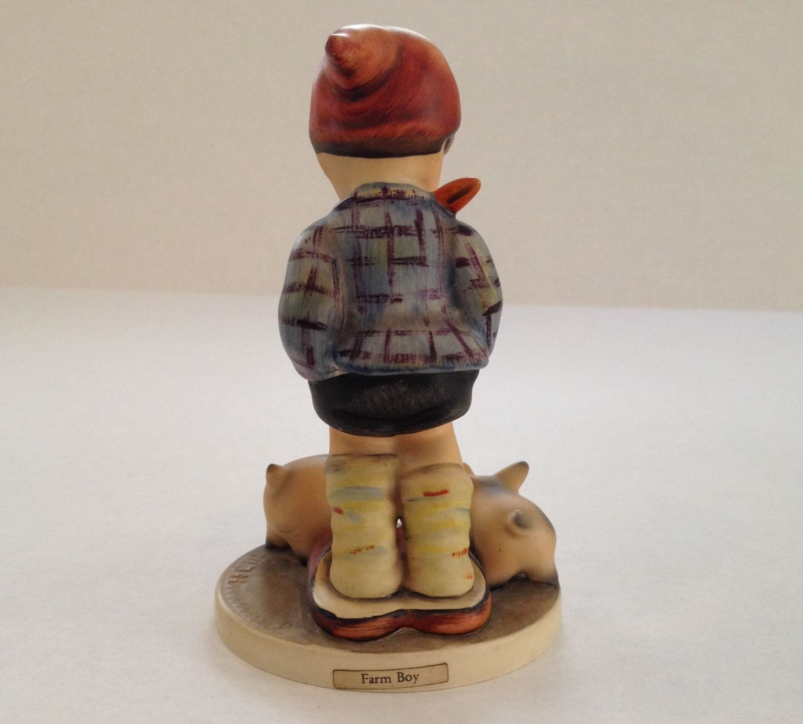 Vintage 70's Goebel Farm Boy Pig Figurine TMK5 1972-1979 #66