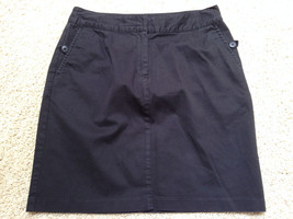 "Talbots Petites 10 P Black Cotton Blend Skirt 30"" W X 19 20"" Long Euc Free Us S/H - $14.54"