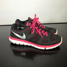 Nike Flex 2014 Run Sz 8.5  Black/Cranberry Lightweight women Shoes.  - $19.31