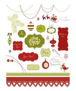 Set of Christmas Scrapbook-ClipArt-Digital Art Clip-Digital. - $4.00