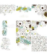 Set of Cute Floral1-ClipArt-Digital Art Clip-Di... - $3.00