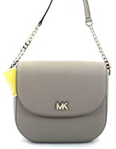 AUTHENTIC NEW NWT MICHAEL KORS LEATHER MOTT PEARL GREY CROSSBODY BAG - $95.00