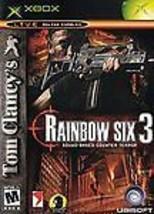 Tom Clancy's Rainbow Six 3 (Microsoft Xbox, 2003) CIB Squad Based Counte... - $4.94