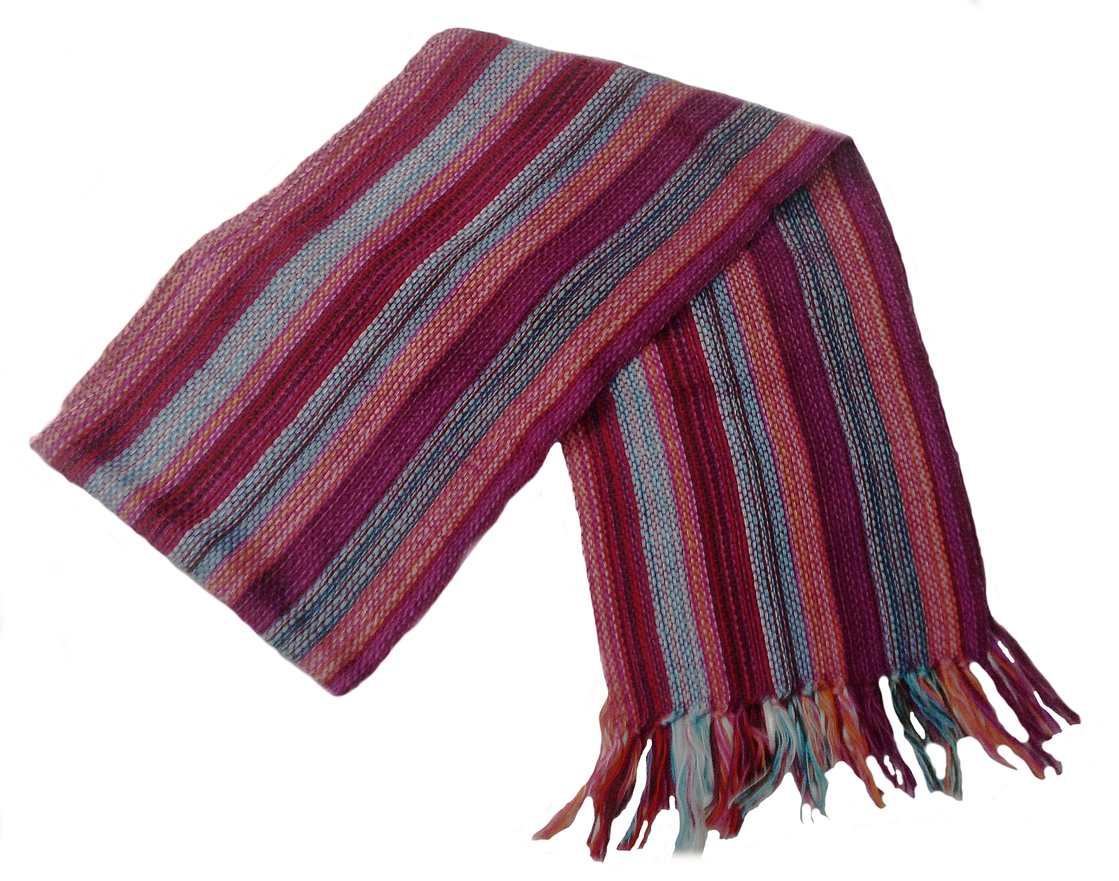 "Primary image for Alpakaandmore Unisex 100% Red Alpaca Wool Scarf, Shawl Stripes 63""x 4.72"""