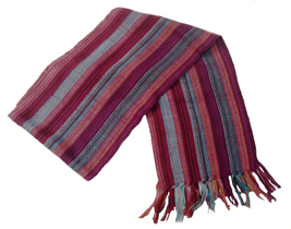 "Alpakaandmore Unisex 100% Red Alpaca Wool Scarf, Shawl Stripes 63""x 4.72"" - ₨2,324.83 INR"