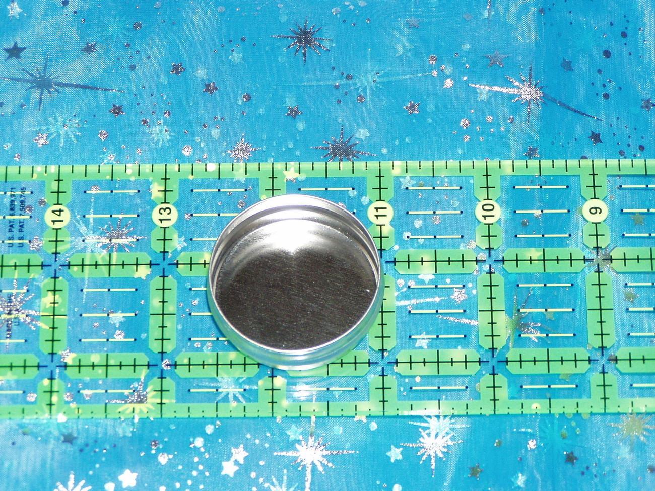 6 round pressure fit top tin storage box 1/2 oz #311