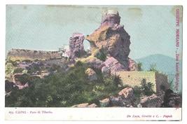 Italy Capri Faro di Tiberio Lighthouse Tiberius UND G Morgano Postcard C... - $4.99