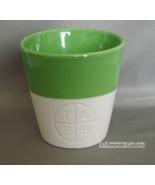 STARBUCKS 2012 NEW BONE CHINA TAZO LIME GREEN / WHITE CUPS MUGS - $3.99