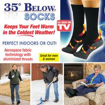 As Seen on TV 35 Below Socks Keep Your Feet Warm and Dry 1 pr  Aluminized Fibers - $12.87