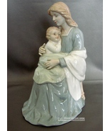 Homco  Madonna Mother & Child Glossy Porcelain Figurine #8809 - $10.79