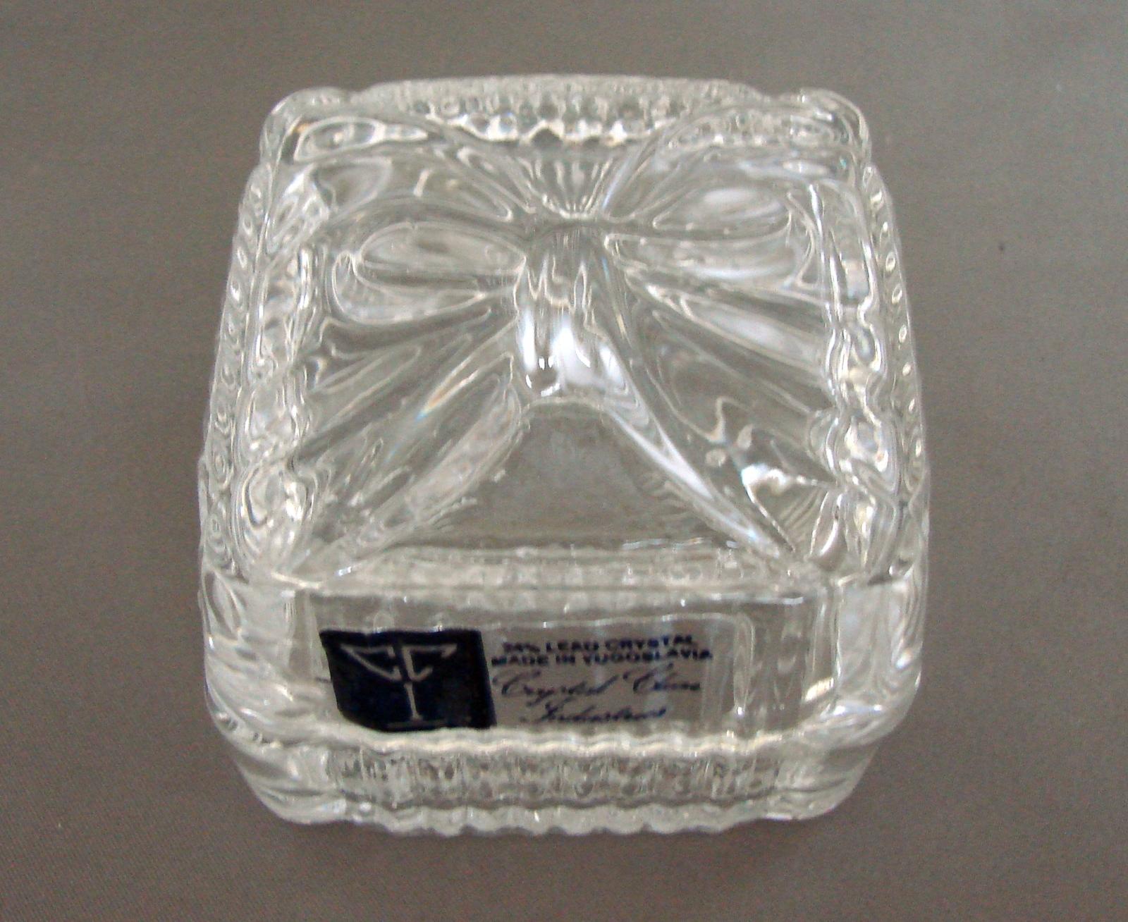 "Primary image for  Lead Crystal 2 1/2"" Square Trinket Box Yugoslavia byCrystal Clear Industries"