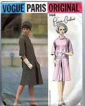 Vtg 1960s Vogue Pattern #1468 Pierre Cardin Paris Original Complete with... - $94.05