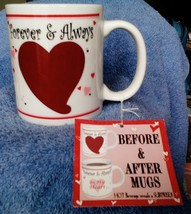 "Brand New GANZ ""Forever and Always""  Before and After Coffee Cup Mug - $3.05"