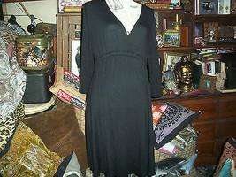 FIERCE MAMAS Cool Jet Black Dress Size L - $23.76