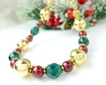 Gold green and red beaded holiday christmas bracelet e9c8dd21 1  thumb155 crop