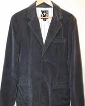 GUESS Men's Sport Jacket Gray Velvet Medium 200% Cotton 2 Buttons - $41.71