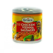 Grace Vienna Sausage Hot and Spicy 130g (4 Tins) - $18.00