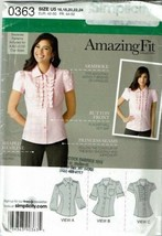 Simplicity Sewing Pattern 0363 Misses Blouse Size 16-24 - $8.99